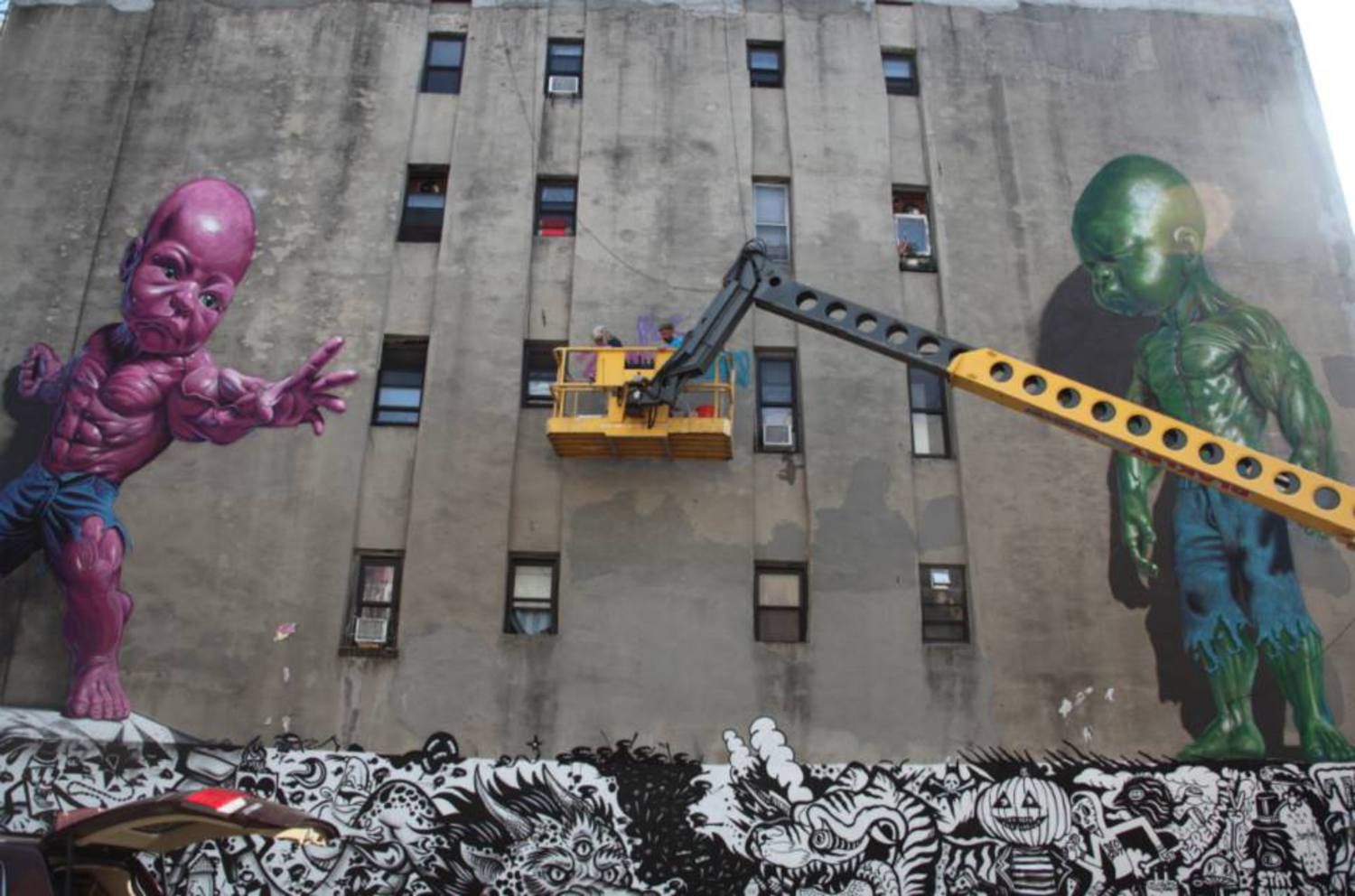 "Ron English ""Temper Tot"", a new piece in Manhattan, New York City"