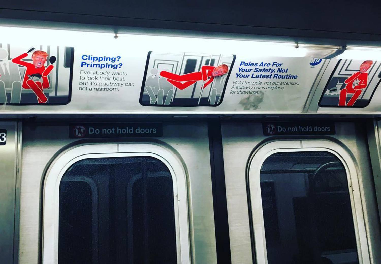 #newyorkcity #newyork #nyc #gofuckyourself #makeamericagreatagain #streetart @realdonaldtrump @gothamist @gawker @msnbc @foxnews #trumpstickers