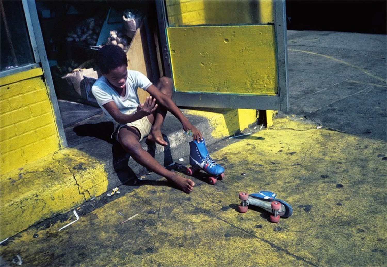 Roller Skates, Bushwick, Brooklyn, NY, circa 1984.