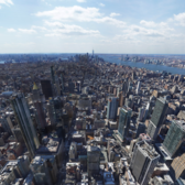 80 billion pixel photo of New York City from top of Empire State Building. (small partial screenshot of full image)