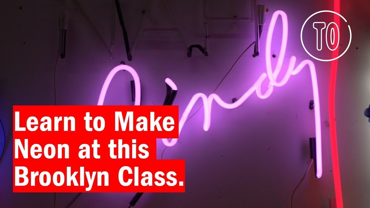 Learn How to Make Neon Lights by Hand at This Studio in