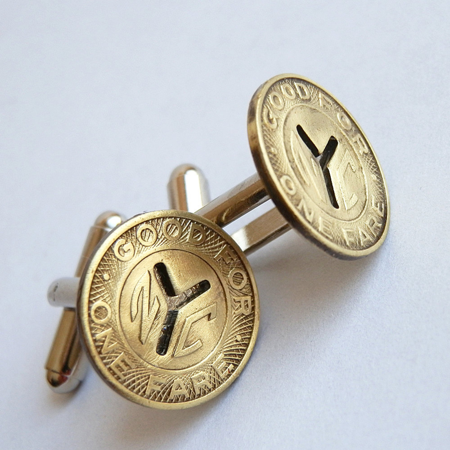Vintage NYC Subway Token Cufflinks