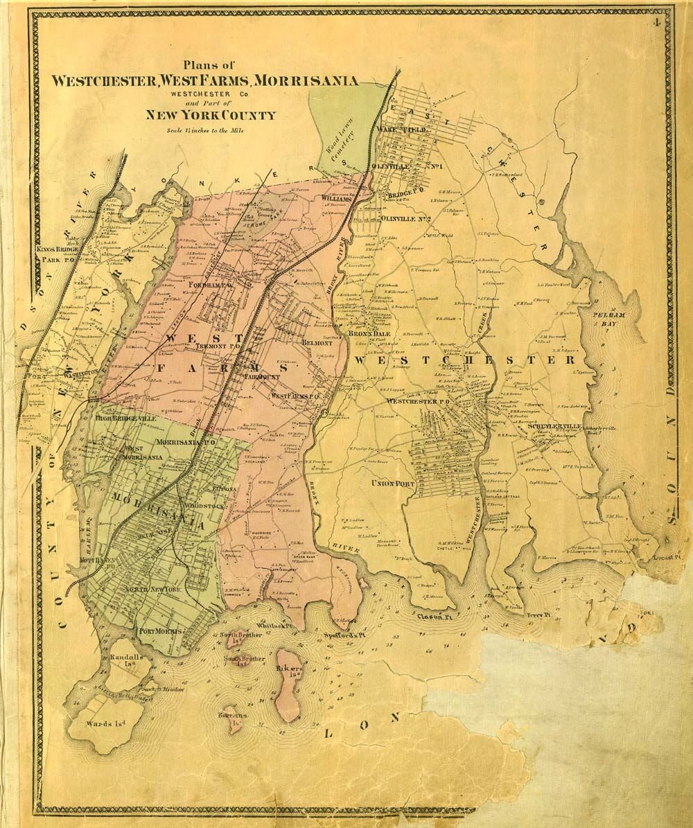 Check Out this Amazing 1867 Map of the Bronx Before it Became Part