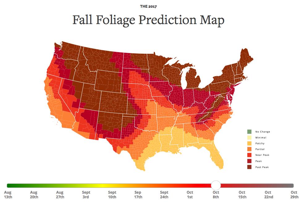 Foliage Map New York 2017.2017 Fall Foliage Map Viewing Nyc