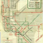 New York City Subway Map, 1958