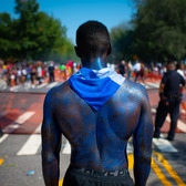 The West Indian Day Parade on Eastern Parkway in Brooklyn