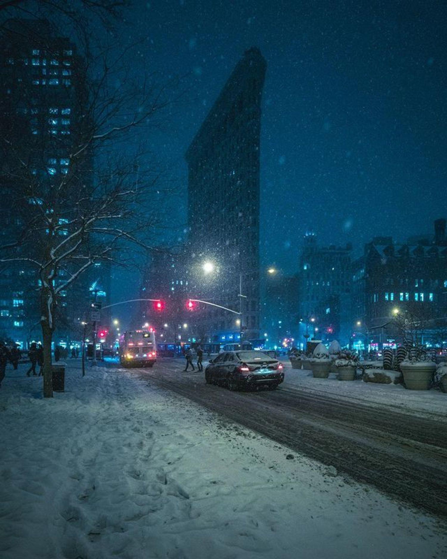 Flatiron Building and Madison Square Park, Flatiron District, Manhattan