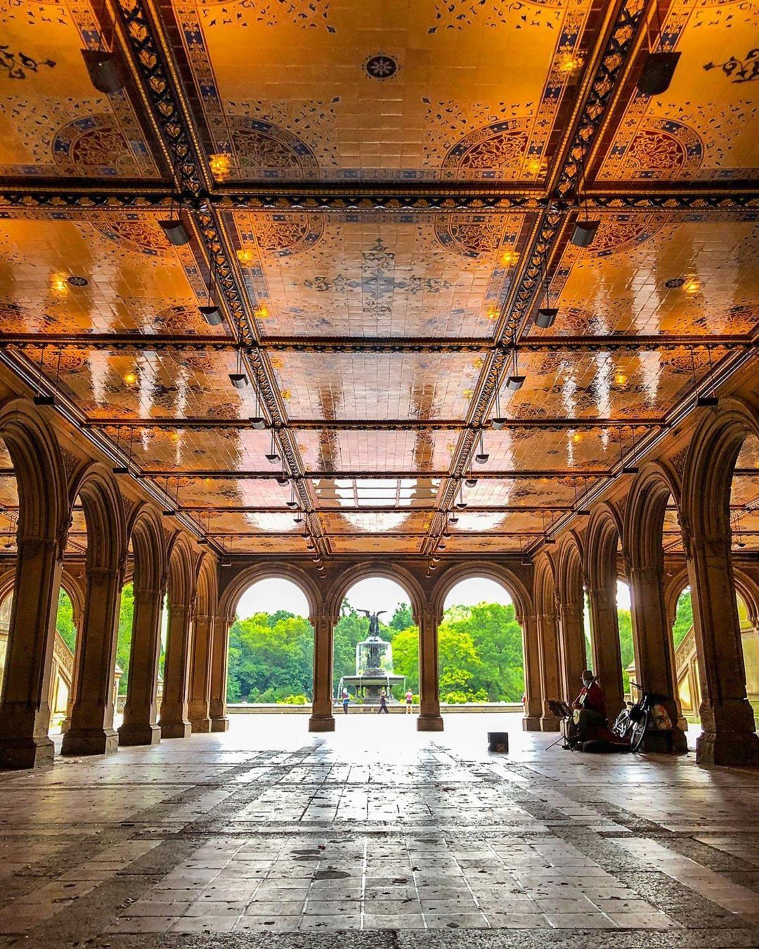 Bethesda Terrace and Fountain, Central Park, Manhattan