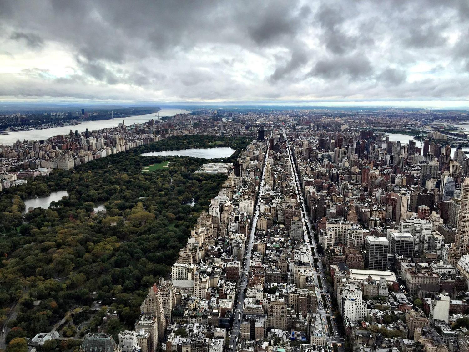 Looking uptown from the 74th Floor of 432 Park Ave.