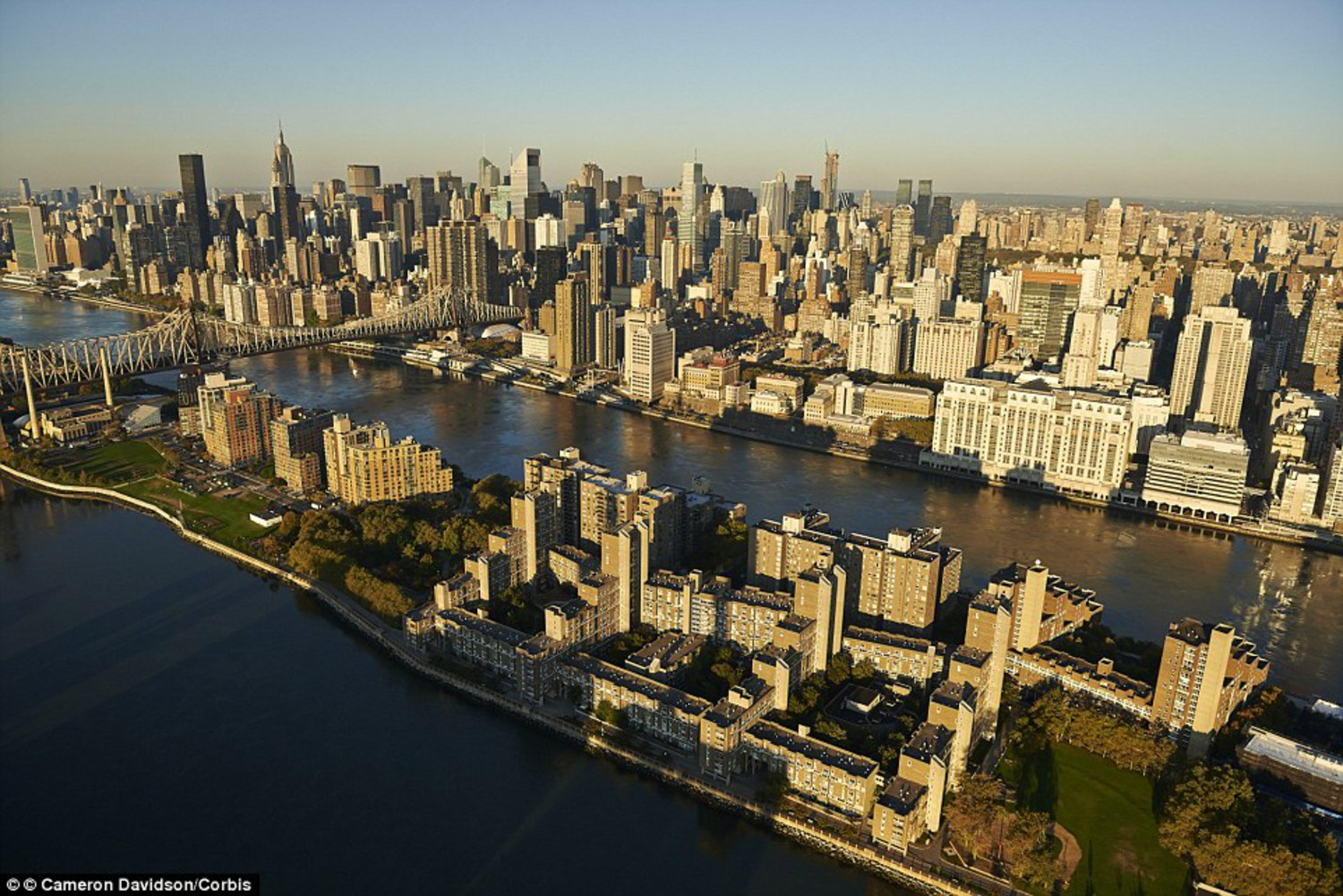 Today, Roosevelt's Island is home to 14,000 people - many of them workers at the United Nations which is just a short tram or Subway trip across the river.