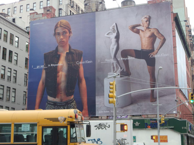 Half-Naked Justin Bieber Returns to Houston Street for Calvin Klein