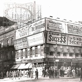 Vintage Photograph of Broadway Advertising in Times Square Circa 1909