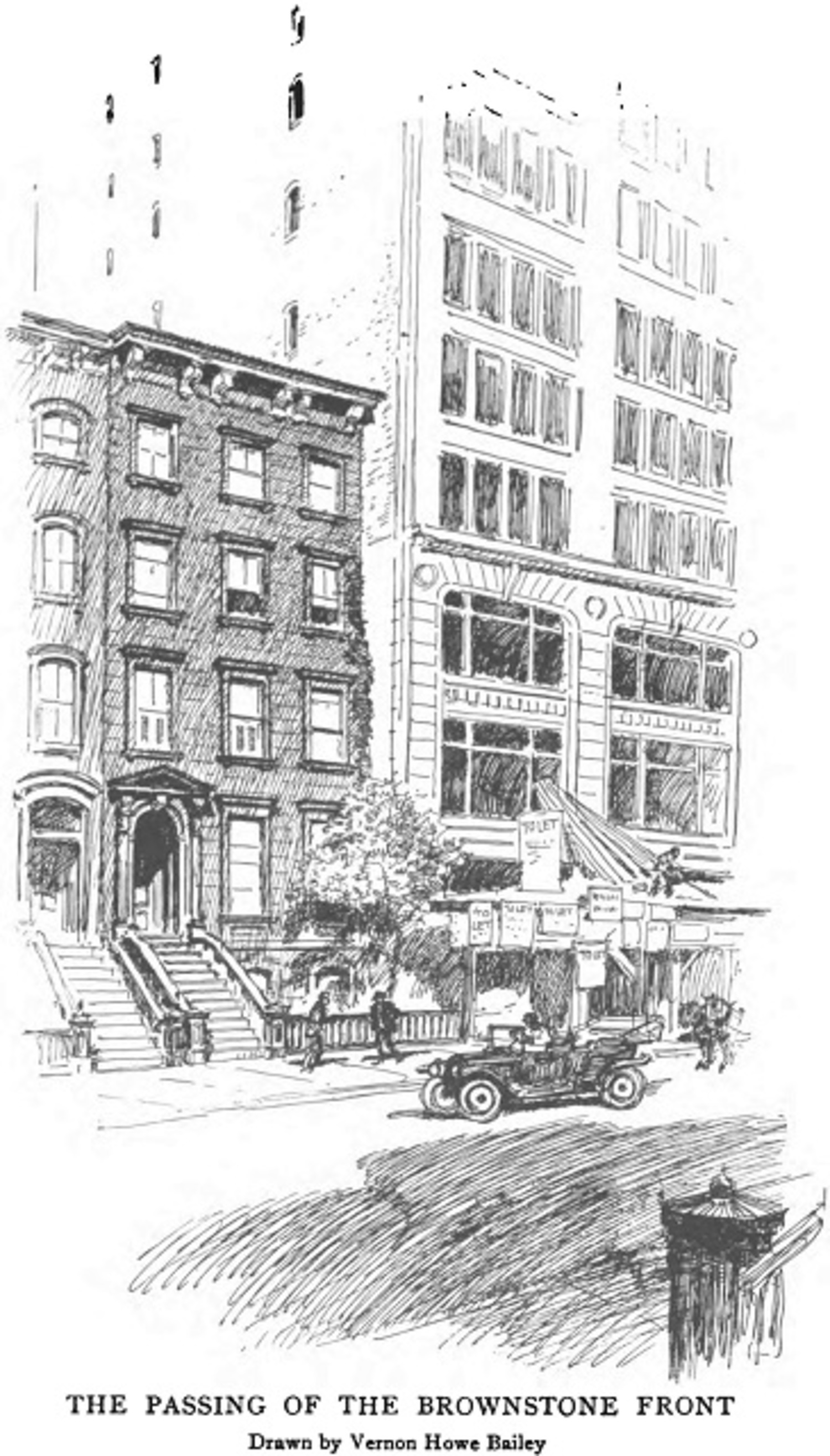 """The Passing of the Brownstone Front."" Thirty Years of New York, 1892-1912: New York Edison Company (1913)"