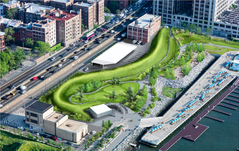 Rendering of Brooklyn Bridge Park's Pier 5 uplands