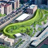 Rendering of Brooklyn Bridge Park's Pier 5 uplands