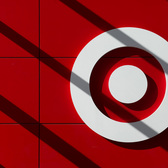 "Target | A shadowy take on the instantly recognizable bullseye logo of Target Corp. Created in 1962, the reasoning behind the choice was explained ""As a marksman's goal is to hit the center bulls-eye, the new store would do much the same in terms of retail goods, services, commitment to the community, price, value and overall experience."" Target Canada recently announced it will be closing all of its Canadian stores even faster than originally planned."