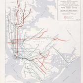 Map of the 1968 plan to build the Second Ave subway.