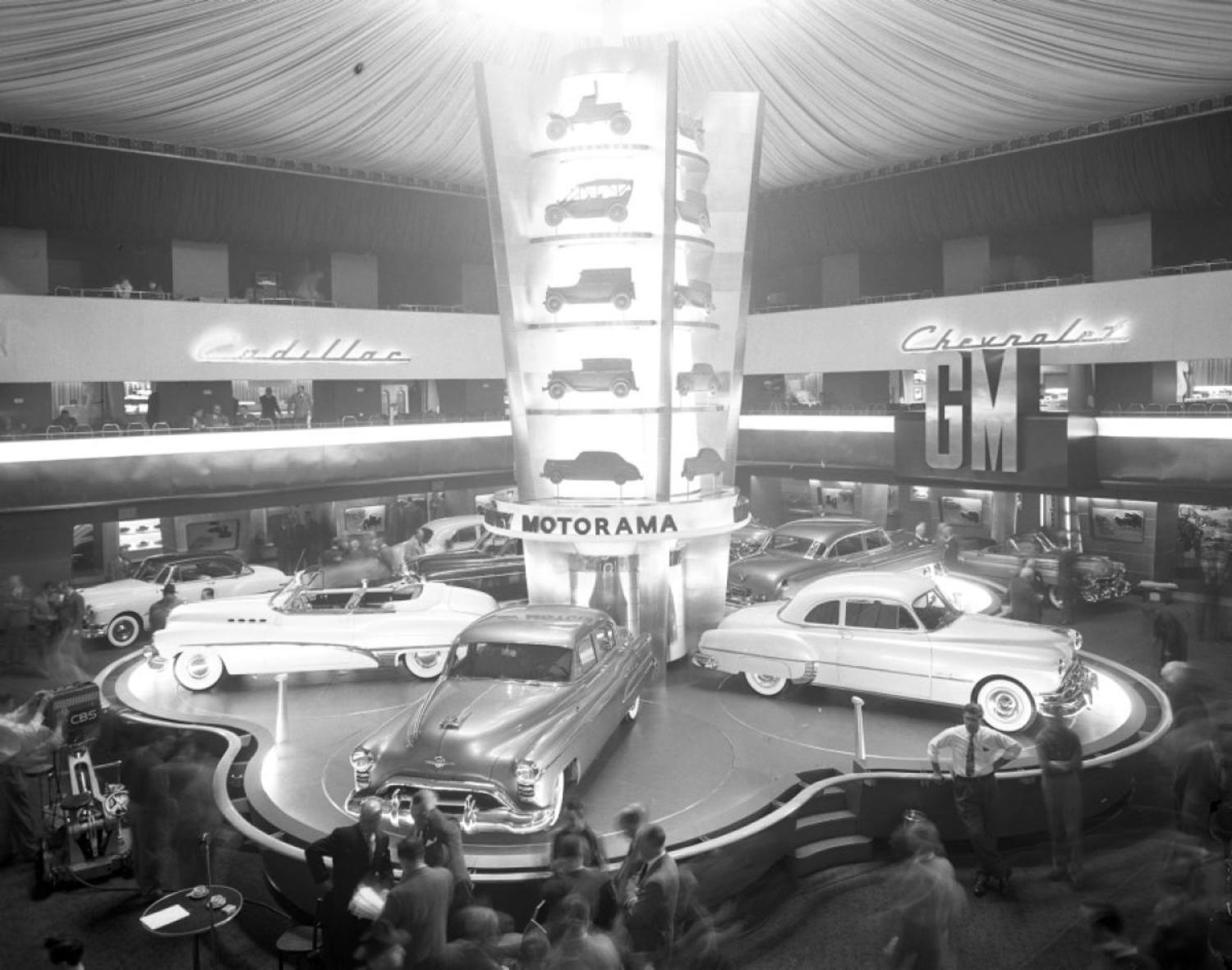 General Motor's famous Motorama exhibition puts on the style at the Waldorf-Astoria.