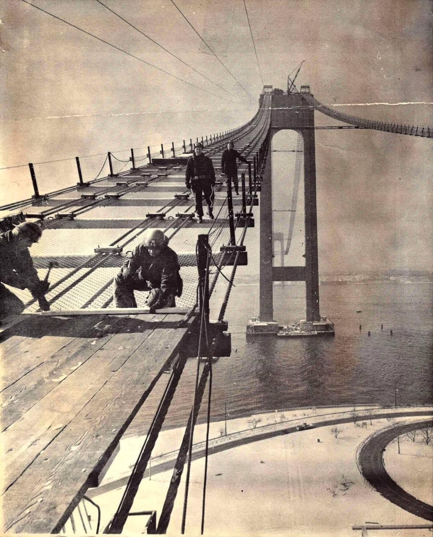 1962, Verrazano Bridge - Brooklyn Side.