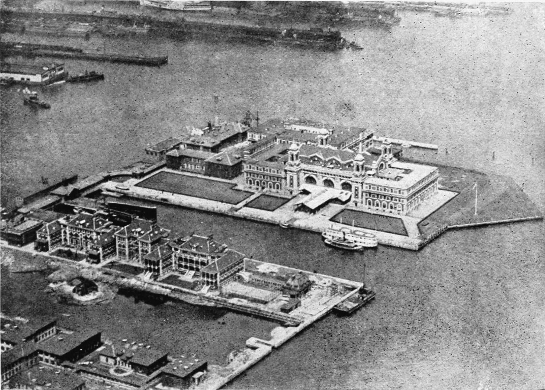 Ellis Island Aerial Photograph (circa 1921)