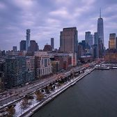 New York, New York. Photo via @zura.nyc #viewingnyc #newyork #newyorkcity #nyc #snow #hudsonriver #hudsonriverpark