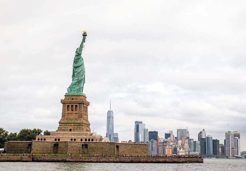 Statue of Liberty, New York, New York. Photo via @montielism #viewingnyc #newyorkcity #newyork