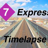 ⁴ᴷ NYC Subway Timelapse - The Queens-Bound 7 Express Line
