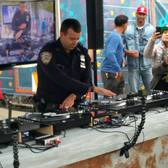 NYPD Officer Scratching at NYC Maker Faire 2016
