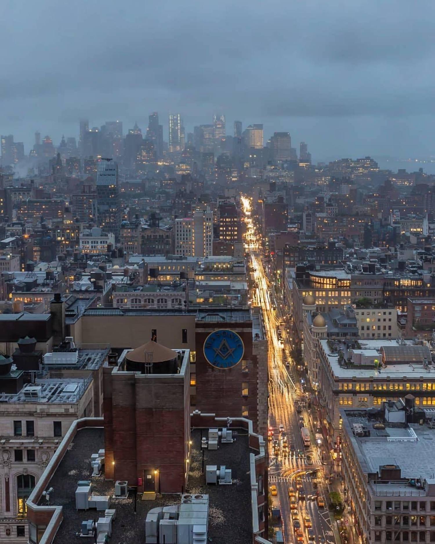 New York, New York. Photo via @killahwave #viewingnyc #nyc #newyork #newyorkcity #rain