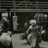 July 24, 1903 New York - Emmigrants arriving at Ellis Island (Restored with added sound)