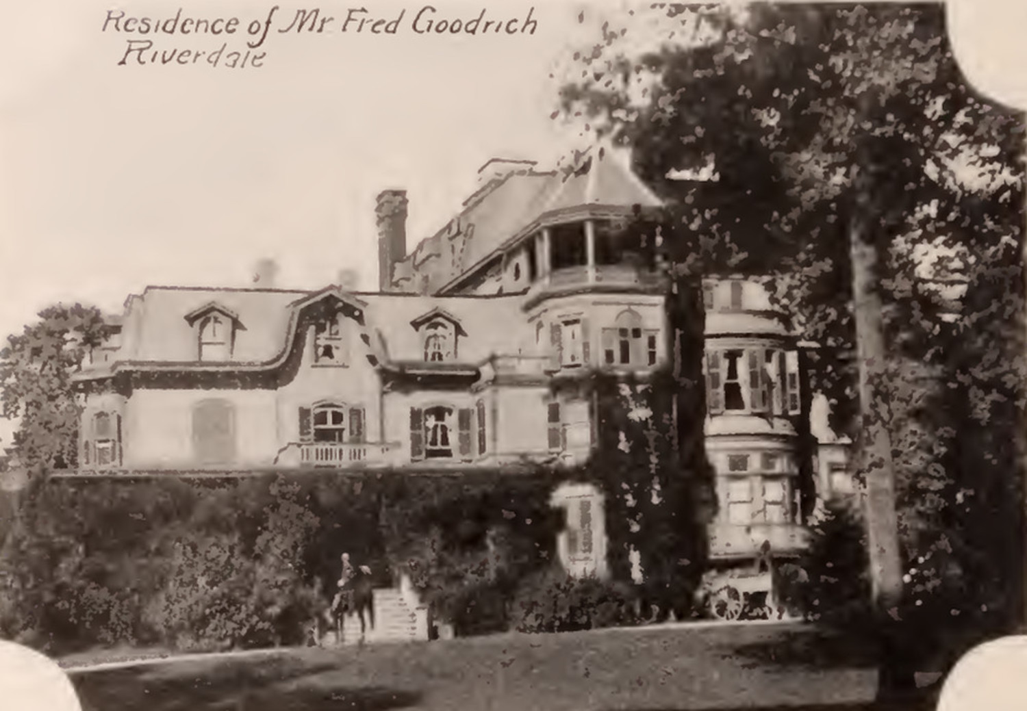 Fred Goodrich residence Riverdale Bronx 1897