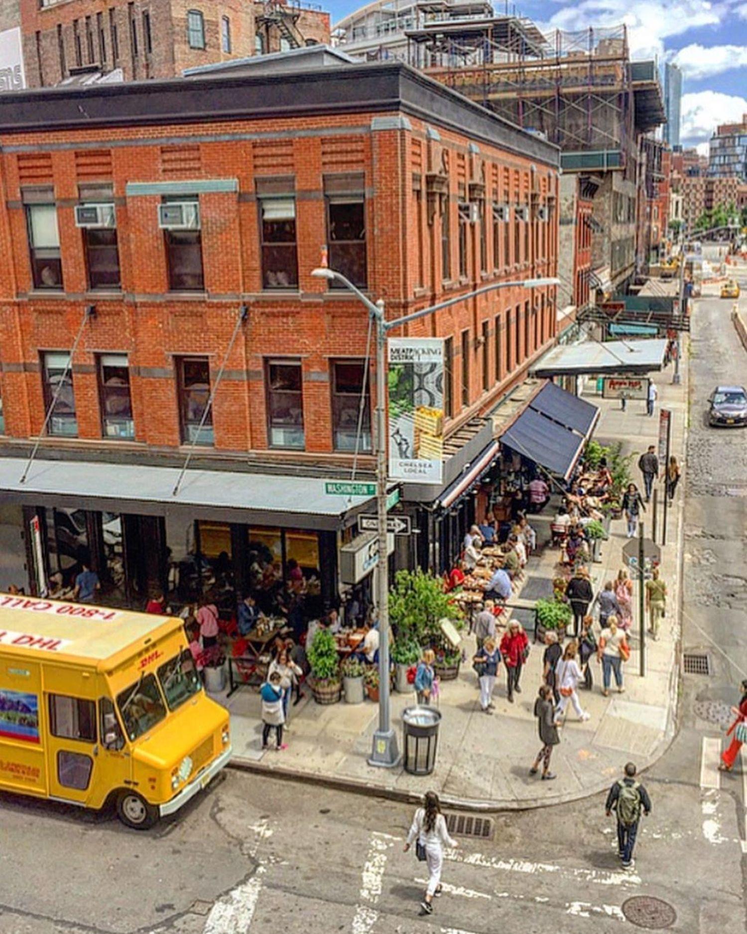 Corner of Washington Street and Gansevoort Street in Meatpacking District