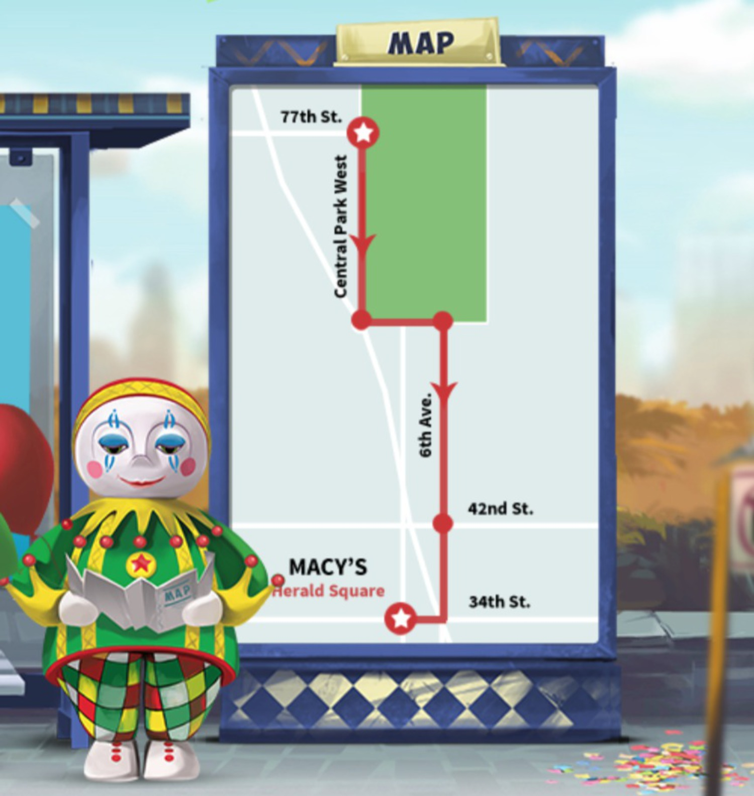 2014 Macy's Thanksgiving Day Parade Route