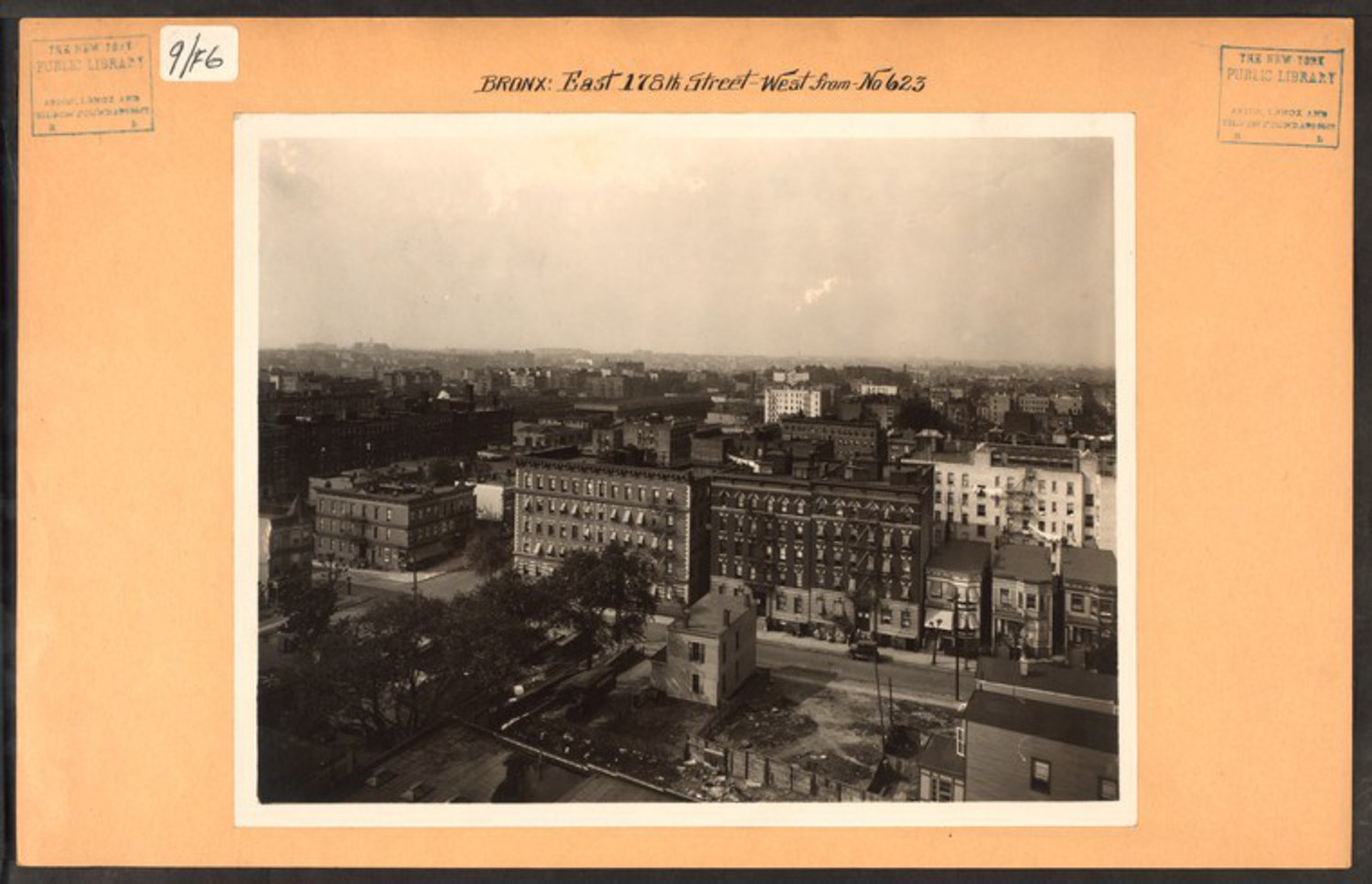 "E 178th Street and Hughes Avenue in Tremont (Date Unknown) Image Credit: Irma and Paul Milstein Division of United States History, Local History and Genealogy, The New York Public Library. ""Bronx: 178th Street (East) – Hughes Avenue"" The New York Public Library Digital Collections."