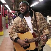 Homeless guy sings AMAZING in the subway!