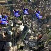 Wingsuit Flyers Soar Over New York City