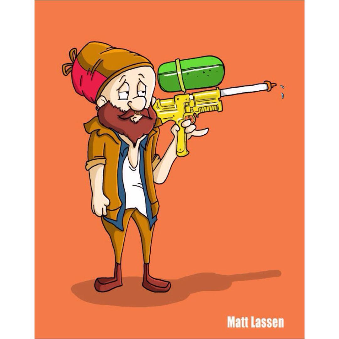 hipster elmer fudd in honor of bugsbunny 75th birthday cartoon
