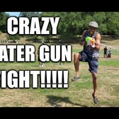 Crazy Water Gun Fight In Prospect Park Brooklyn!!!!