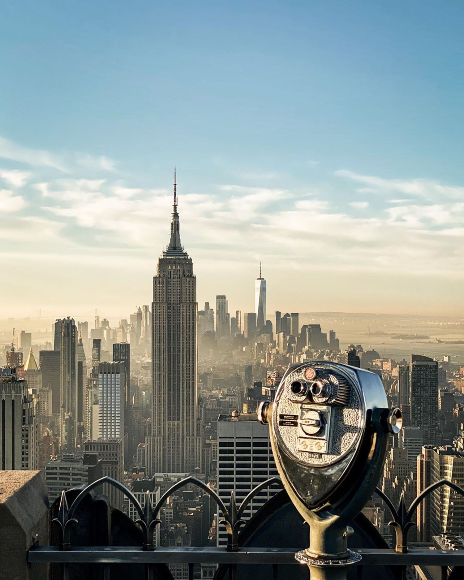 View from Top of the Rock, Midtown, Manhattan