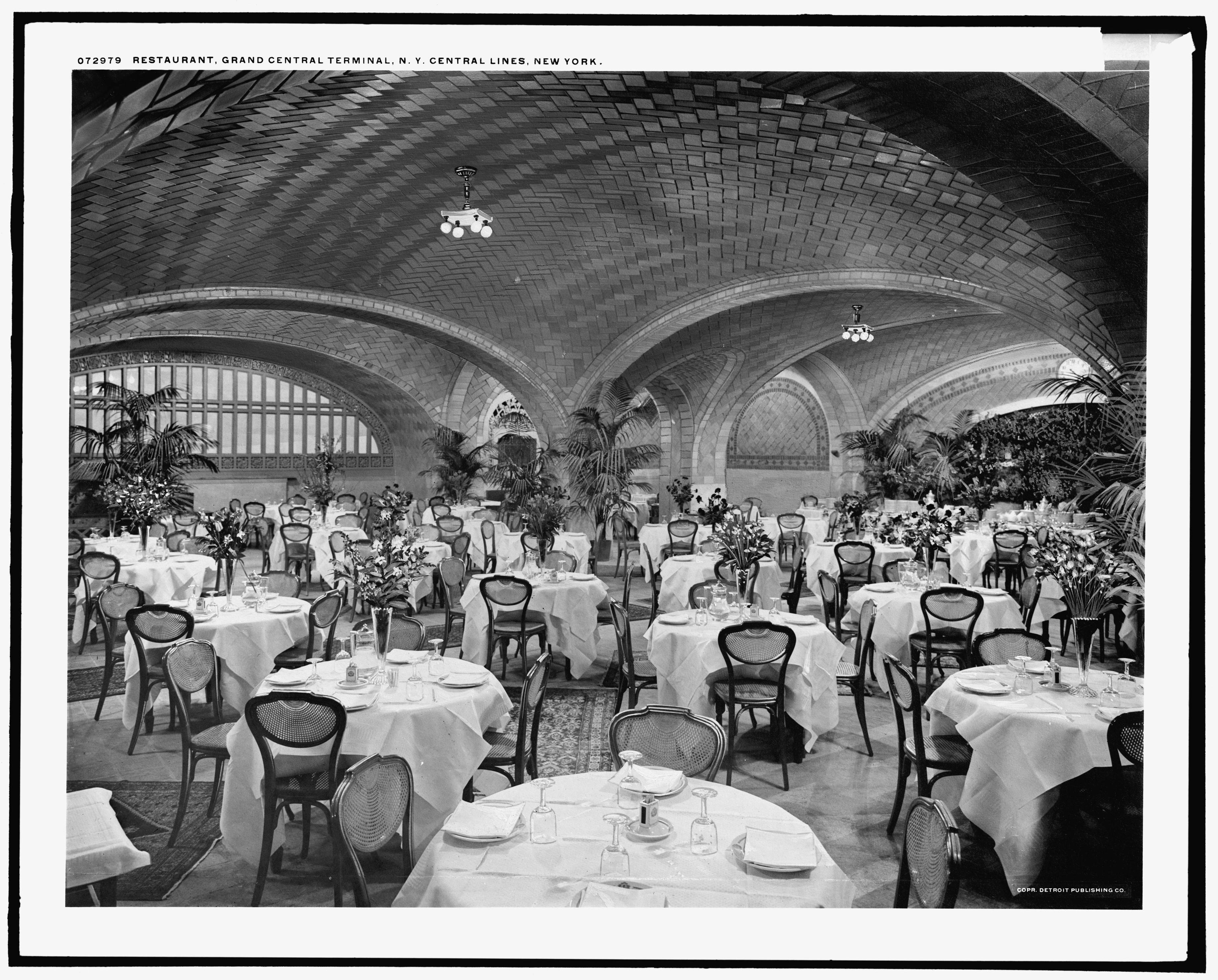 Vintage Photograph Of The Oyster Bar Restaurant At Grand Central Terminal Circa 1915