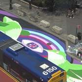 A Mural Springs in Union Square Along NYC's 14th Street Busway!
