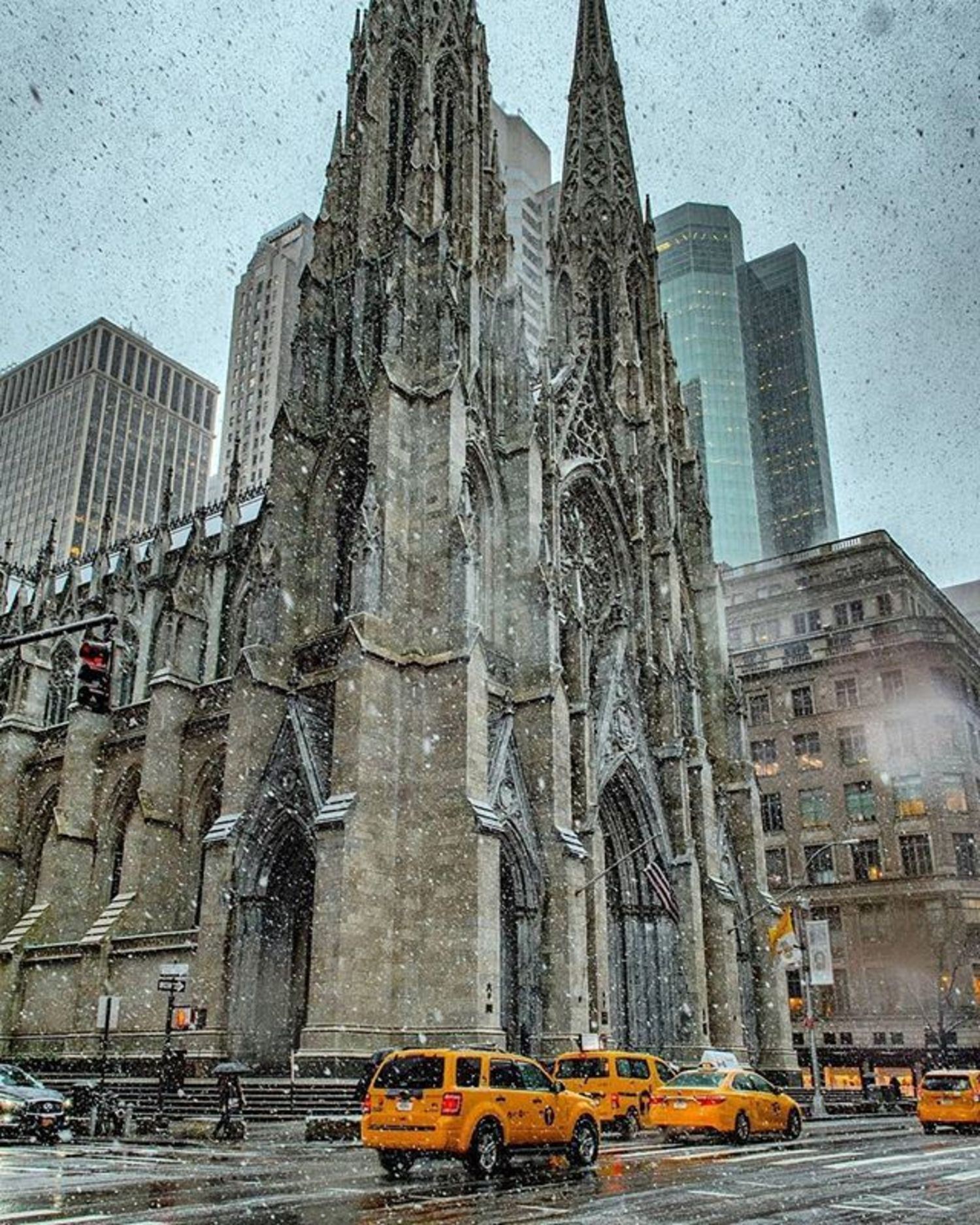 St. Patrick's Cathedral, New York, New York. Photo via @ericknyc_ #viewingnyc #newyork #newyorkcity #nyc #snow #stpatrickscathedral