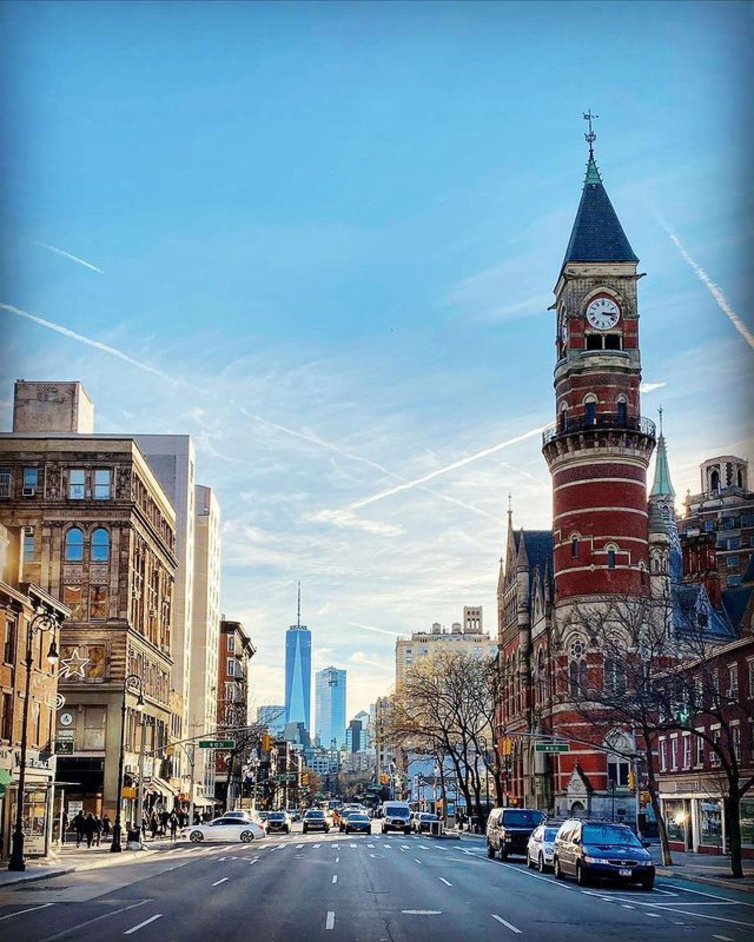 Looking down 6th Avenue from 14th Street, Greenwich Village, Manhattan