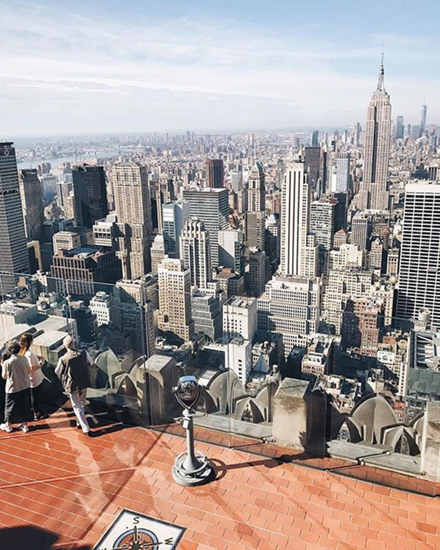 Top of the Rock, New York City. Photo via @melliekr #viewingnyc