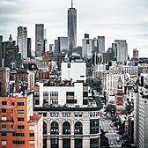 Looking down 6th Avenue, Greenwich Village, Manhattan