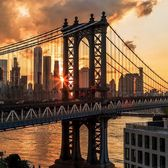 Manhattan Bridge, New York, New York.