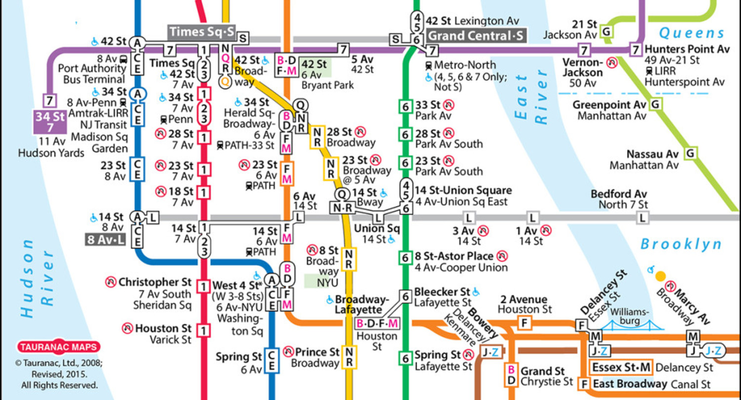In 2011, John Tauranac released an unofficial update on his own map. The subway map never stops evolving, it seems.