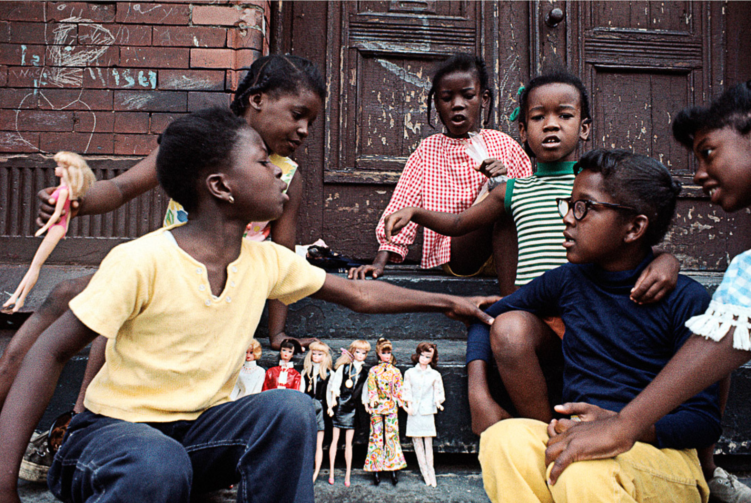 1970 Girls with Barbies, East Harlem.