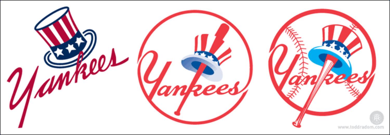 The Yankees' Top Hat Emblem and the Three Logos of 1946.