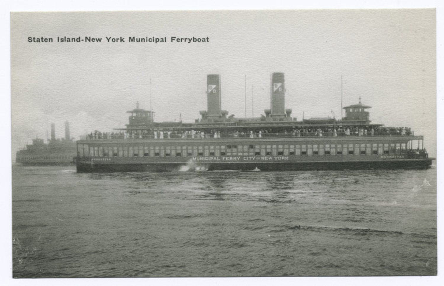 Staten Island-New York municipal ferryboat.